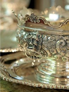 Such an exquisitely sculptured fine Silver Tureen & Plate