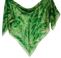 Hand painted silk square scarf batik, green leaves batik, lightwear silk scarf, gift for her, ladies scarves, women accessories