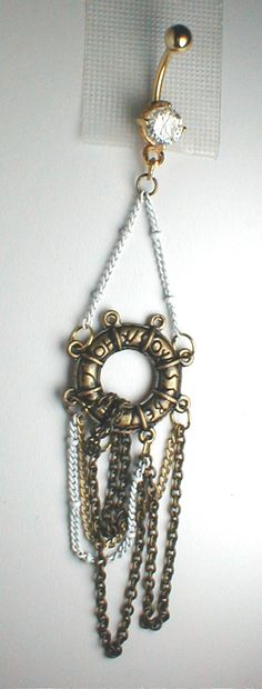 Unique Belly Ring   Buoy with Tassel Pendant On by pondgazer2004, $12.95