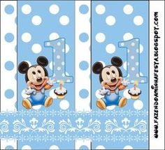 First Year of Mickey with Polka Dots: Free Printable Candy Bar Labels. First Birthday Party Decorations, Happy Birthday Signs, Birthday Thank You Cards, Happy Birthday Messages, Happy Birthday Greetings, First Birthday Parties, First Birthdays, Festa Mickey Baby, Fiesta Mickey Mouse