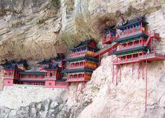 Hanging monastary - China !   Most Beautiful Pages
