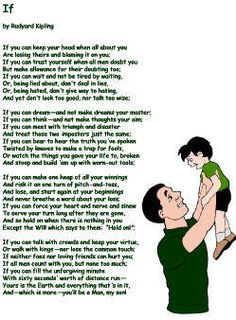 "father's day poetry - ""If"" by Rudyard Kipling"