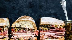 Muffaletta -  This is a muffaletta that's easy to make for a crowd or a picnic. Enjoy with a side of Pearls Olives To Go! to enhance the olive flavor.