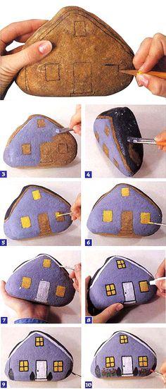Роспись на камнях для начинающих (подробная инструкция) » Женский Мир