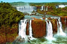 Iguazu Falls have variety in name and pronunciation. Known also as Iguazú Falls, Iguassu Falls, or Iguaçu Falls. These wonders of nature are waterfalls of the Iguazu River on the border of the Argentine province of Misiones and the state of Paraná which is in Brazil.