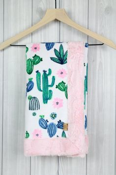 All Things Cactus and Llama Cactus Minky Blanket – Cactus Baby Blanket // Succulents Blanket // Cact Navy Nursery, Girl Nursery Themes, Nursery Decor, What Is Kindergarten, Cactus Drawing, Baby Girl Blankets, Baby Sprinkle, Minky Blanket, Baby Boy Rooms