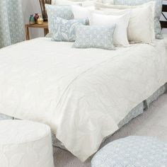 I pinned this Dillion Embroidered Queen Coverlet in Pearl from the Chooty & Co. event at Joss and Main!
