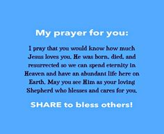 I Pray that You Would Know How Much Jesus Christ Loves You. | Daily Prayers