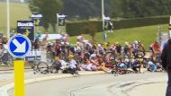 Tour de France stage 2 crash.