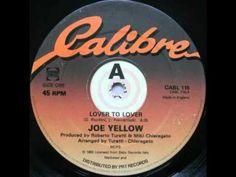 Joe Yellow- Lover To Lover (Audio) Italo Disco, Audio, Lovers, Yellow, Gold