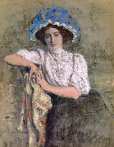 The Athenaeum - Seated Girl in a Blue Hat (Georges Lemmen - )