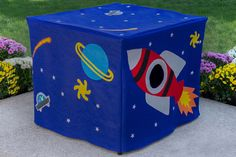 Immediate Shipping Outer Space Card Table
