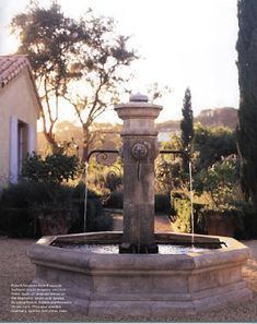 One type of a French fountain, a must in the French garden. Again, crushed…