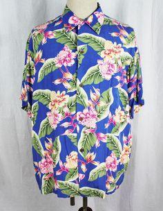 4dac3118a Rayon Floral Regular Size L Hawaiian Casual Shirts for Men   eBay. Camp ShirtsPineapple  JuiceAloha ...