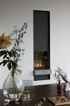 Interesting!!! slim modern fireplace