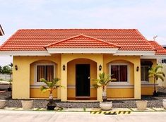 Albeniz One Storey Single House For Sale in Lapu lapu City My House Plans, Bungalow House Plans, Small House Plans, Simple House Design, House Front Design, Style At Home, Mexican Style Homes, Philippines House Design, Bungalow Haus Design