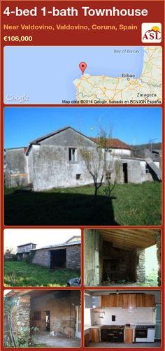 4-bed 1-bath Townhouse in Near Valdovino, Valdovino, Coruna, Spain ►€108,000 #PropertyForSaleInSpain