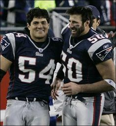Mike Vrabel (Ohio State) and Tedy Bruschi! Two of my all time favorite Pats! (Of course there aren't many - definitely NOT Brady) New England Patriots Players, Patriots Team, Tedy Bruschi, Nfl Football Players, Sport Football, Go Pats, Football Conference, Boston Sports, Professional Football