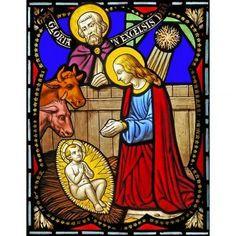 Adhésif Nativité, 23x30 cm