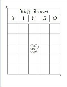 Domestic Randomness: Bridal Shower Games (& free printables)