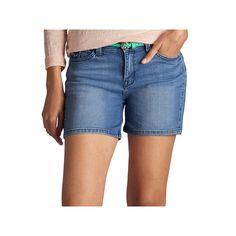 Women's Lee Twila Modern Series Belted Jean Shorts, Size: 8 - regular, Dark Blue