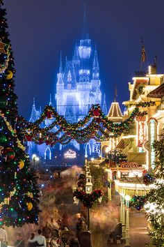An amazing picture of Main Street and Cinderella Castle all decked out for Christmas. Thanks Eric Weber.