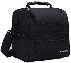 MIER Adult Lunch Box Insulated Lunch Bag Large Cooler Tote Bag for Men, Women, Double Deck Cooler(Black) Price: (as of - Details) About MIER For more than 10 years, MIER has created products to help al. Lunch Boxes For Men, Adult Lunch Box, Cool Lunch Boxes, Deck Cooler, Lunch Cooler, Cooler Box, Thermal Lunch Box, Insulated Lunch Box, Mens Lunch Bag