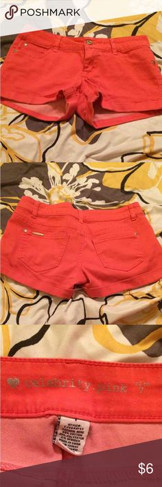 $3 size 7 shorts $3 a piece when you bundle 5 or more items!!! I have a ton of name brand women juniors men's boys and girls great deal!!! Celebrity Pink Shorts