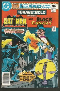 BRAVE & BOLD #166 BATMAN and BLACK CANARY  VF/NM- range 1980 Giordano / Austin