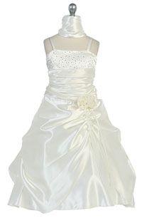 Flower Girls Dresses -   Girls Dress Style 720- Taffeta Dress with Sequin Detailing