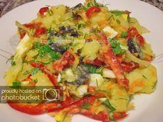 Salata-orientala-extra - See this image on Photobucket. Roasted Eggplant Dip, Oriental, Romanian Food, Potato Recipes, Vegetable Pizza, Lunch, Dinner, Health, Desserts
