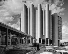 Ulrich Franzen, Philip Morris Research, Center Tower (1971), Richmond, VA, 1972 by Ezra Stoller