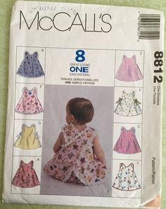 BABY SUMMER Sewing Pattern ~ HTF Panties & Cross Back Tops 4 Sizes #patterns4you