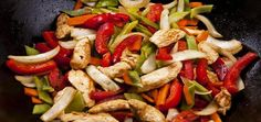 Oriental Chicken with Peppers