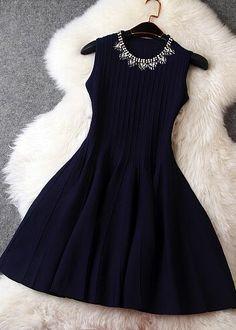 Fabric: BlendedColor: dark blue, green , blackSizes : S, M, LSize (cm):S: Length Length Length 82 Elegant Dresses, Pretty Dresses, Sexy Dresses, Beautiful Dresses, Casual Dresses, Short Dresses, Fashion Dresses, Coctail Dress Short, Jw Mode