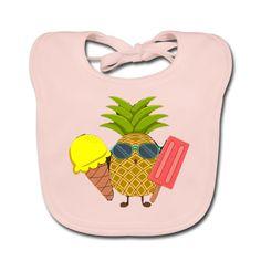 Geschenke Shop | Ananas - Baby Bio-Lätzchen Baby Kind, Kind Mode, Pineapple, Scubas, Ocean