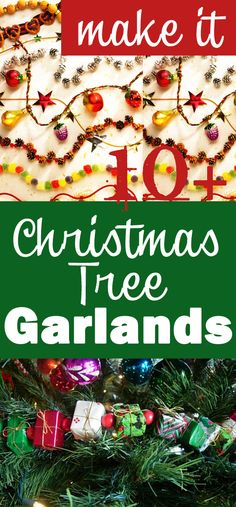 Christmas Tree Garland Ideas using easy to find items