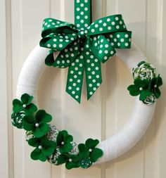 St. Patrick's Day Wreath - definitely a necessity for living in the Irish capital of Nebraska!