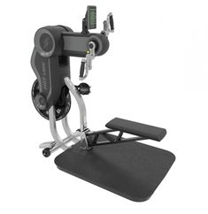 The HIIT UBE by StairMaster is an upper body ergometer which utilizes fan generated resistance for High Intensity Interval Training, cardiovascular workouts, strength conditioning, and rehabilitation. Unlike lower body ergometers (such as exercise bikes) which employ the legs as the primary driver for movement, upper body ergometers utilize the arms, shoulders, and upper back in a pedaling motion, much like using a bicycle with your hands.