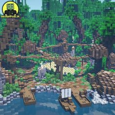 Minecraft Jungle House, Minecraft Castle Designs, Minecraft Oasis, Minecraft Kingdom, Minecraft House Plans, Minecraft Cottage, Minecraft House Tutorials, Cute Minecraft Houses, Amazing Minecraft