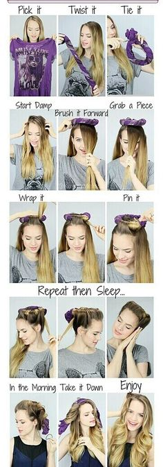 Perfect tutorial for long hair, loose curls!