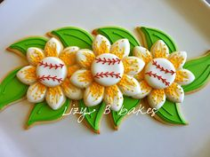 Amazing idea for sports themed cookie for ladies! (by Lizy B Bakes)