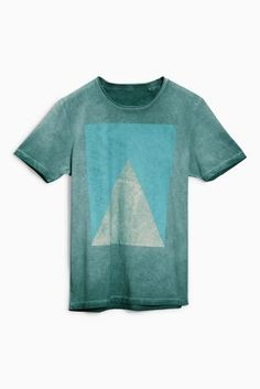 Buy Green Triangle Print T-Shirt from the Next UK online shop