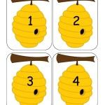 Ne touche pas aux abeilles elles piquent! Activité de motricité fine + maths Insect Crafts, Bee Crafts, Crafts For Kids, Math Activities For Kids, Infant Activities, Kids Learning, Spring Theme, Math Numbers, Bee Theme
