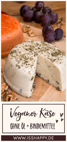 Vegan Cheese: Simple recipe with few ingredients to make yourself Einfache & gesunde vegane Rezepte Vegan Breakfast Recipes, Vegetarian Recipes, Easy Healthy Recipes, Easy Meals, Cheese Cultures, Recipes With Few Ingredients, Cheese Ingredients, Vegetable Protein, Vegan Cheese