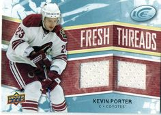 2008-09 Upper Deck Ice Kevin Porter Dual Jersey Card Coyotes #PhoenixCoyotes