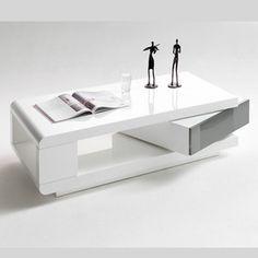 hoogglans salontafels wit/grijs