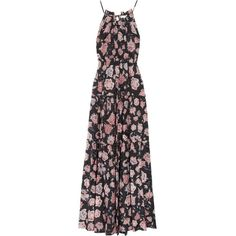 Pre-owned Isabel Marant Etoile Floral Maxi Maxi Dress ($190) ❤ liked on Polyvore featuring dresses, none, floral dresses, floral halter dress, colorful maxi dress, tiered maxi dress and bohemian dresses