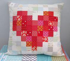 s.o.t.a.k handmade: pixelated heart pillow