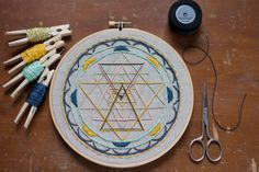 Embroidered Mandala Hoop Art. 7 inch. Handmade. by HankPankDesigns